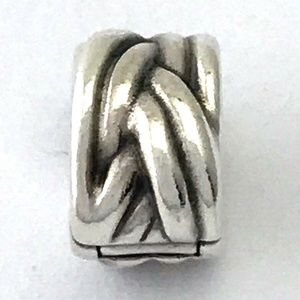 PANDORA Braided Clip, Sterling Silver, Charm